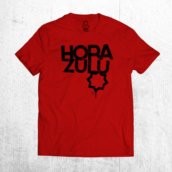 Camiseta roja Hora Zulu logo